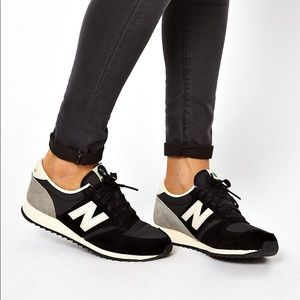 New Balance Black and Grey 420 Sneakers